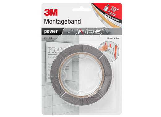3M Doppelseitiges Power-Klebeband Blister